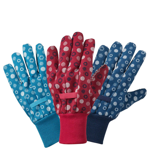 Cross Hatch Dot Cotton Grip Triple Pack