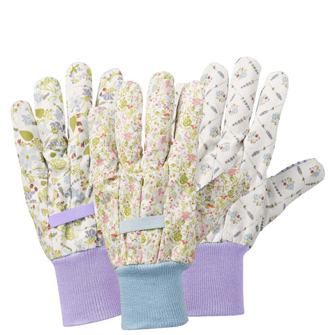 Julie Dodsworth Lavender Garden Cotton Triple Pack