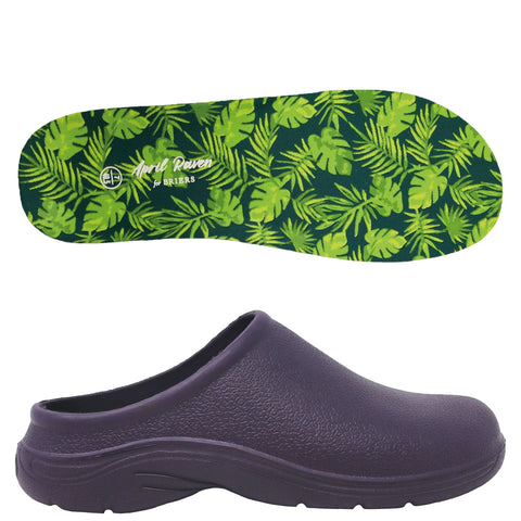 April Raven Tropical Forest Garden Clogs