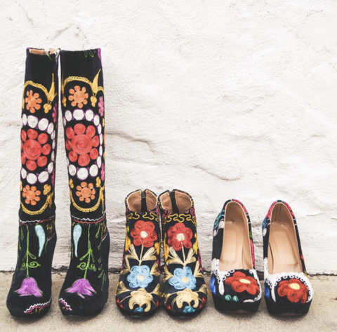 Hand-embroidered Boots