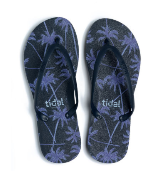 Stylish, Ergonomic Made in America Flip Flops - Dark Breeze