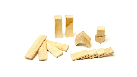Magnetic Wooden Block Set - 14 Piece Kit - Designed in USA - Fair Trade from Honduras - CleverElement  - 2