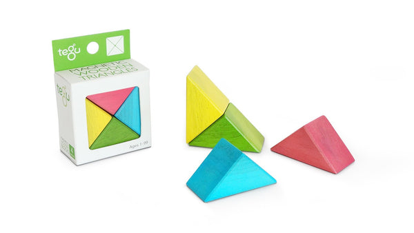 Magnetic Wooden Block Set - TRIANGLES A La Carte - Cubes - Designed in USA - Fair Trade from Honduras