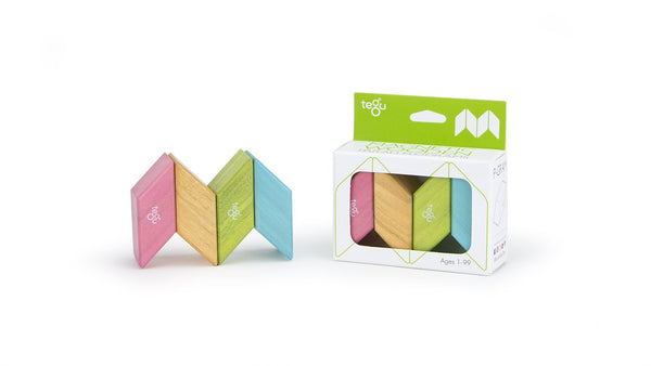 Magnetic Wooden Block Set - PARALLELOGRAMS A La Carte - Cubes - Designed in USA - Fair Trade from Honduras