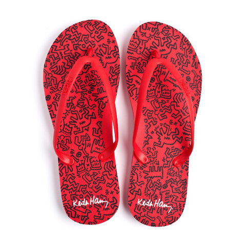 Keith Haring Design Flip Flops - CleverElement
