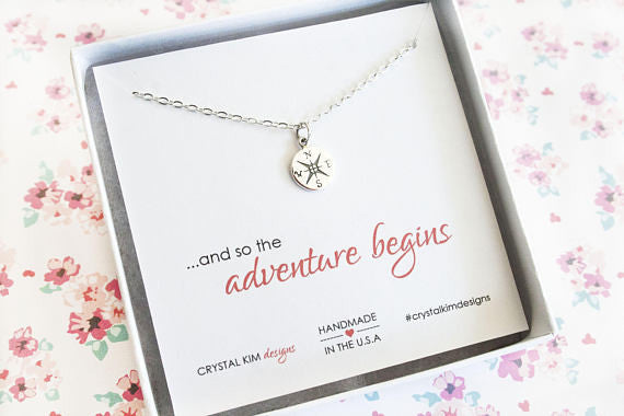Adventure Begins in Sterling Silver Necklace