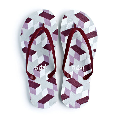 3eb54c7385e0d4 Geometric Illusion Flip Flops - CleverElement