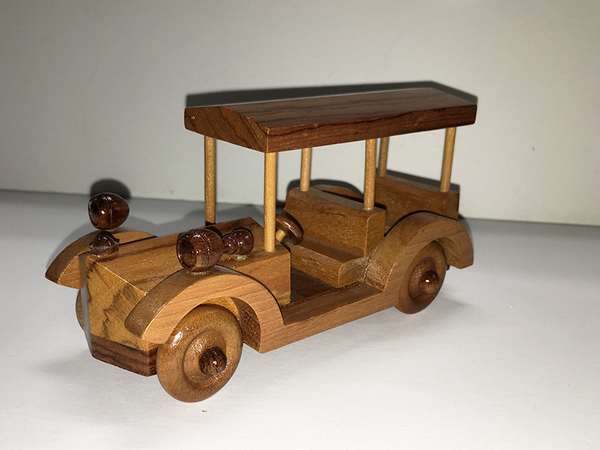 1920's Safari Car - Handmade Wood Model Toy