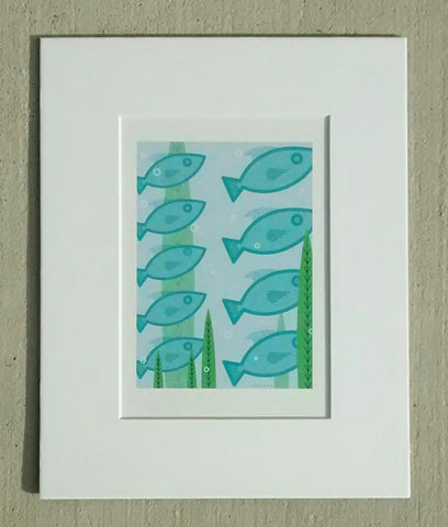 Schooling Fish - Art Reprint by Job Briggs