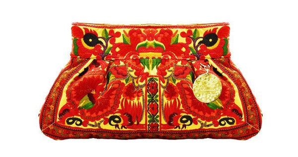 Nadine Red Oversized Small Clutch
