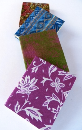 Small Sari-Covered Handmade Journals