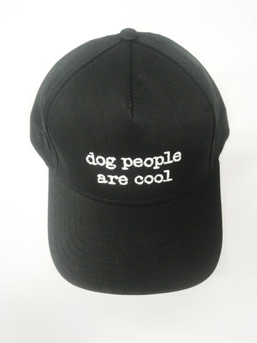 Dog People Are Cool - All Black Velcro Baceball Hat