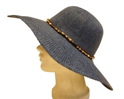 Sun Hat With Wooden Beaded Wrap