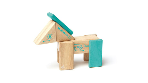 Robo Kit - Magnetic Wooden Blocks - Designed in USA - Fair Trade from Honduras