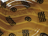 Modern Brown Hand-blown Glass Decorative Dish