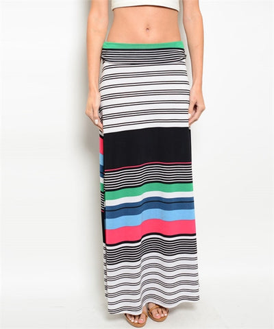 Multi-Colored Long Skirt - CleverElement