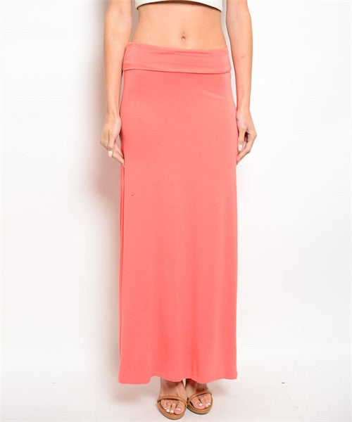 Salmon Long Skirt
