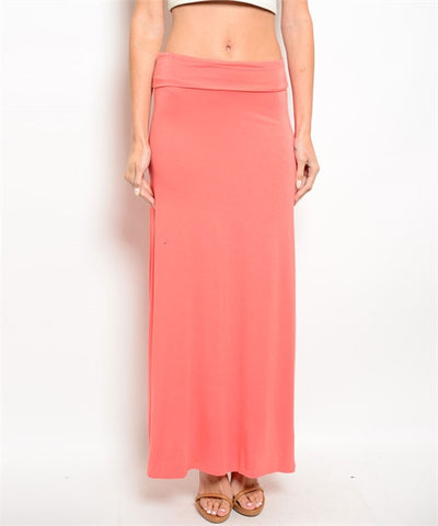 Salmon Long Skirt - CleverElement