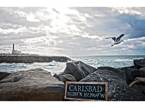Local Carlsbad Photograph Printed on Aluminum 12X18 - Coordinates - CleverElement