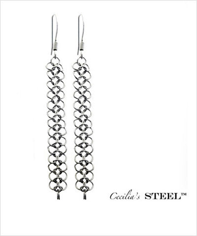 Stainless Steel Earrings Narrow