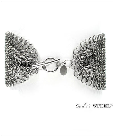 Stainless Steel Bow-tie Bracelet Toggle Clasp
