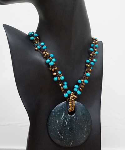 Wood and Coconut set - Necklace and Earrings - Fair-Trade from Ecuador - CleverElement  - 1