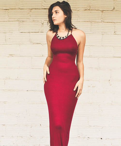 Long Red Strappy Maxi Dress