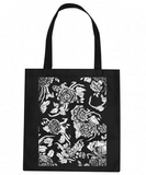 Original Artwork Black 100% Cotton Tote Bag - CleverElement  - 1