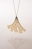 Folium Gold 3D Printed Pendant - CleverElement  - 5
