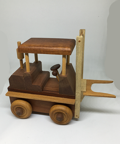 Hand-carved Wood Toy - Forklift