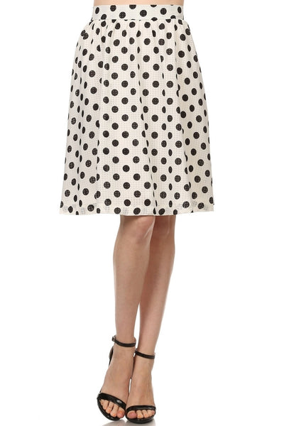 Polka Dot Knee-Length Skirt