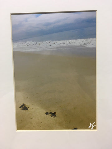 Taylor Mohr Matted Print Photography - Footprints