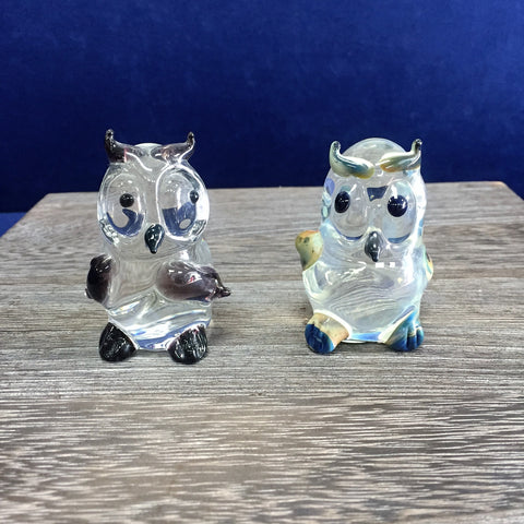 Large Glass Owls