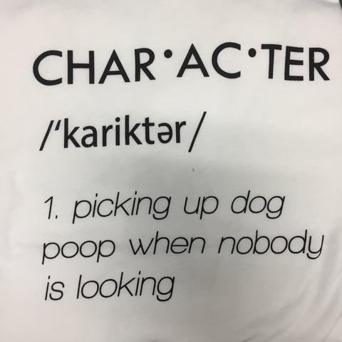 "Dog People Are Cool- White Short Sleeve ""Character"""