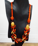 Three Piece Tagua Set in Orange Colors - CleverElement  - 3