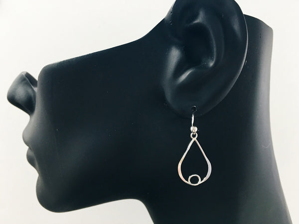 Oval Hand-Crafted Sterling Silver Earrings