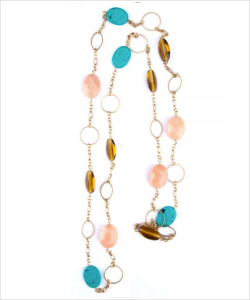 Multi-colored Glass Bead Handmade Necklace
