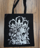 Original Artwork Black 100% Cotton Tote Bag - CleverElement  - 2