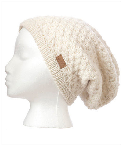 Honeycomb Slouch Knit Hat
