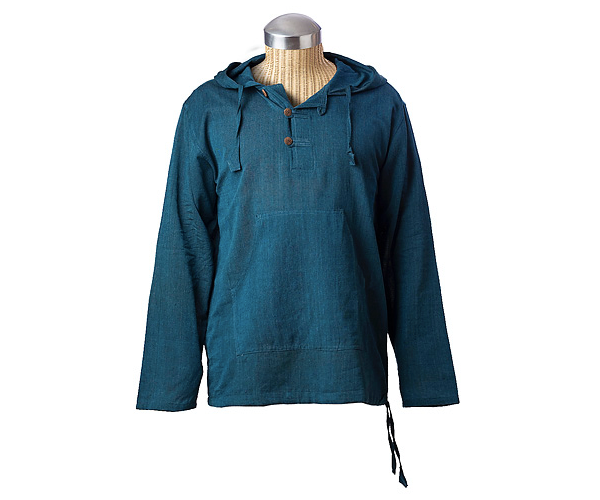 Solid Kurta Hoodie - Fair Trade Handmade in Nepal