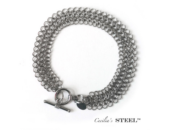 Stainless Steel Handmade Bracelet - Elegance Collection