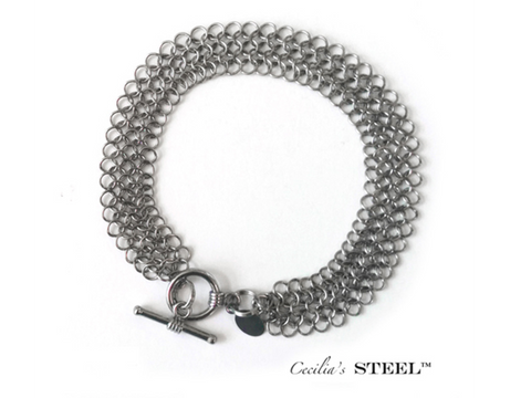 Stainless Steel Handmade Bracelet - Elegance Collection - CleverElement
