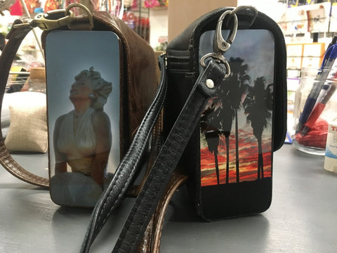 Wooden & Leather Bag with Printed Photo