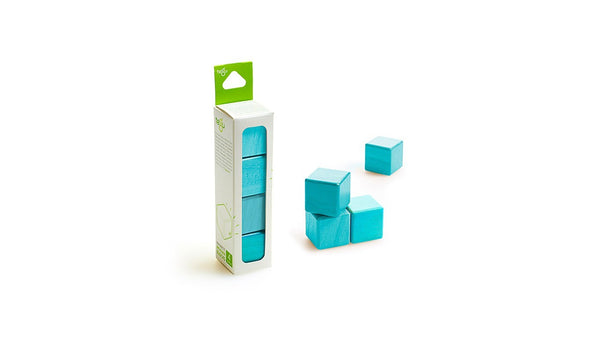 Magnetic Wooden Block Set - A La Carte - Cubes - Designed in USA - Fair Trade from Honduras