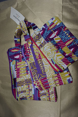Kolective Makeup Bags Made in Benin (Set of 3) - CleverElement
