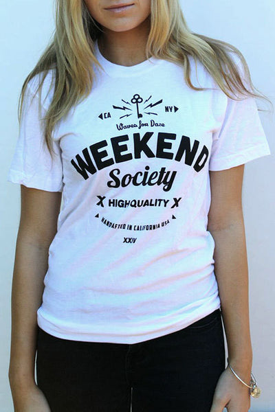 Weekend Society White Waves For Daze T-shirt
