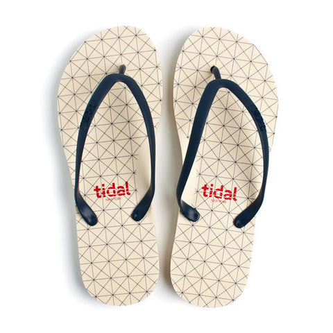 Navy Quad Flip Flops - CleverElement