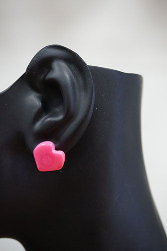 Emika Gifts Tagua Heart Earrings