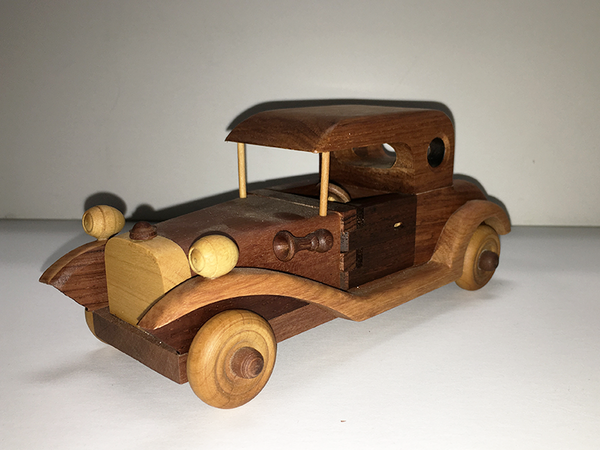 1932 Ford Coupe Handmade Wood Model