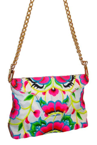 Nadine Crossbody Mini in White or Hot Pink